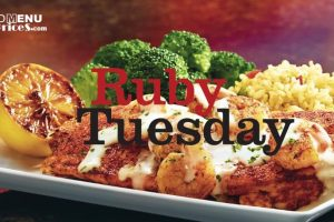 photo about Ruby Tuesday Printable Menu identified as Waffle Dwelling Menu Charges - 2018 Meals Menu with Costs